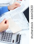 businessman working in the... | Shutterstock . vector #66642820