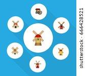 flat icon alternative set of... | Shutterstock .eps vector #666428521