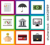 flat icon gain set of payment ... | Shutterstock .eps vector #666428989