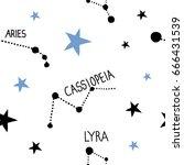 vector constellations... | Shutterstock .eps vector #666431539