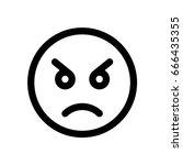 angry emoji | Shutterstock .eps vector #666435355
