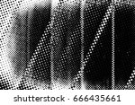 grunge black and white circle... | Shutterstock . vector #666435661