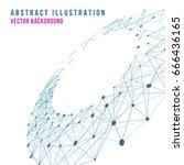 abstract  line vector...   Shutterstock .eps vector #666436165