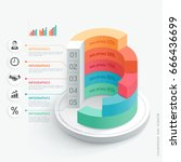 business infographics design... | Shutterstock .eps vector #666436699