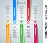 3d infographic design template... | Shutterstock .eps vector #666437239