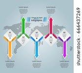 3d infographic design template... | Shutterstock .eps vector #666437269