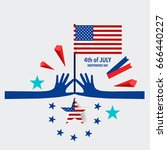 happy independence day card... | Shutterstock .eps vector #666440227