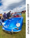 TAIN, SCOTLAND - JUNE 18 2017: Classic Porsche 356 at vintage car rally - stock photo