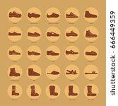 set of men's footwear icons ...   Shutterstock .eps vector #666449359