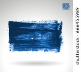 blue brush stroke and texture.... | Shutterstock .eps vector #666455989