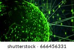 abstract network connection... | Shutterstock . vector #666456331