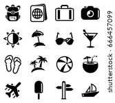 set of simple icons on a theme... | Shutterstock .eps vector #666457099
