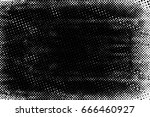 grunge black and white circle... | Shutterstock . vector #666460927