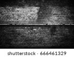 old brick wall  black... | Shutterstock . vector #666461329