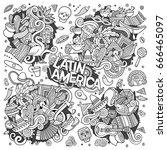 sketchy vector hand drawn... | Shutterstock .eps vector #666465097