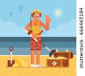 Beach Treasure Hunter Using...