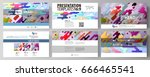 business templates in hd format ... | Shutterstock .eps vector #666465541
