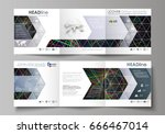 set of business templates for... | Shutterstock .eps vector #666467014