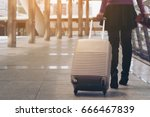 woman traveller with travel... | Shutterstock . vector #666467839