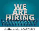 business hiring concept. hr... | Shutterstock . vector #666470479