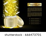 anti aging cream with gold... | Shutterstock .eps vector #666473701