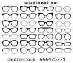 . many types of glasses.... | Shutterstock .eps vector #666475771
