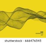 wavy background for banner ... | Shutterstock .eps vector #666476545