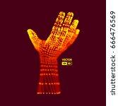 human arm. hand model.... | Shutterstock .eps vector #666476569