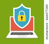 computer security concept.... | Shutterstock .eps vector #666477184