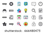 register with hand pointer icon.... | Shutterstock .eps vector #666480475