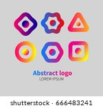 abstract gradient logos | Shutterstock .eps vector #666483241