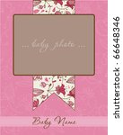 baby girl arrival card with... | Shutterstock .eps vector #66648346