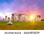 Stock photo historical monument stonehenge not far from town of amesbury england 666485839