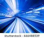 motion blur of fast train... | Shutterstock . vector #666488539