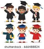 set of diverse college or...   Shutterstock .eps vector #666488824