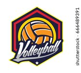 volleyball logo | Shutterstock .eps vector #666489391