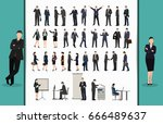 collection of business people... | Shutterstock .eps vector #666489637