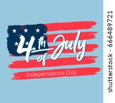 fourth of july  united stated... | Shutterstock .eps vector #666489721