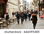 rouen  france   november 26...   Shutterstock . vector #666495385