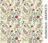vector seamless pastel gentle... | Shutterstock .eps vector #666496171