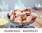 colorful macarons in a shiny... | Shutterstock . vector #666500131