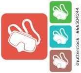 diving mask icon isolated.... | Shutterstock .eps vector #666504244