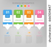infographic template of four... | Shutterstock .eps vector #666504847
