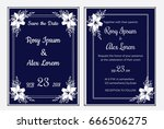 wedding invitation card... | Shutterstock .eps vector #666506275