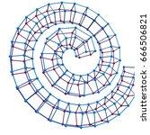 abstract 3d polygonal helix... | Shutterstock .eps vector #666506821