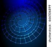 abstract 3d polygonal helix in... | Shutterstock .eps vector #666506899