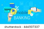 mobile banking and accounting... | Shutterstock .eps vector #666507337