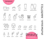 beauty accessories icons set... | Shutterstock .eps vector #666507511