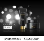 a beautiful luxury cosmetic... | Shutterstock .eps vector #666510004