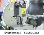 cnc wire bending machine.   Shutterstock . vector #666510265
